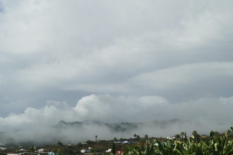 Blick auf die Wolken