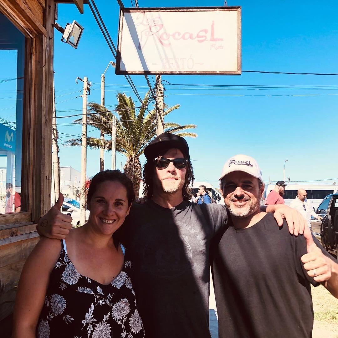 El actor de The Walking Dead, Norman Reedus en La Paloma