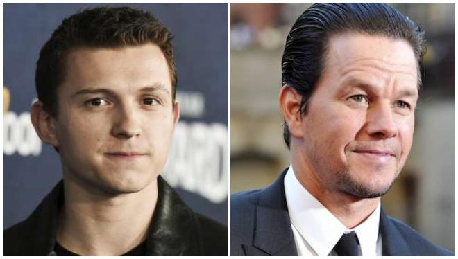 Imágenes filtradas de 'Uncharted': Tom Holland y Mark Wahlberg visten de gala en Berlín