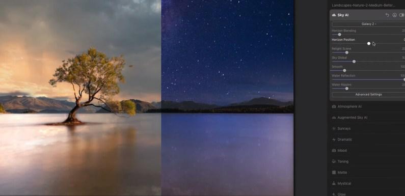 Skylum presenta SkyAI 2.0 para Luminar AI: su herramienta de reemplazo de cielos ahora con el poder de cambar reflejos en el agua