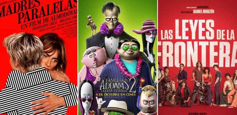 'Madres paralelas', 'Las leyes de la frontera' y 'La familia Addams 2: La gran escapada' destacan entre los estrenos de cine del fin de semana