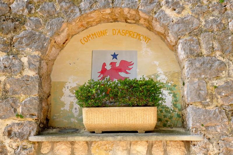 Le blason du village d'Aspremont