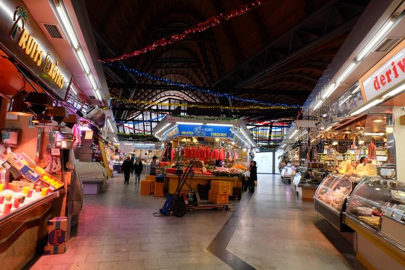 Le marché couvert à Barcelone