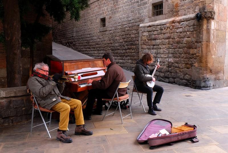 Musiciens de rue à Barcelone