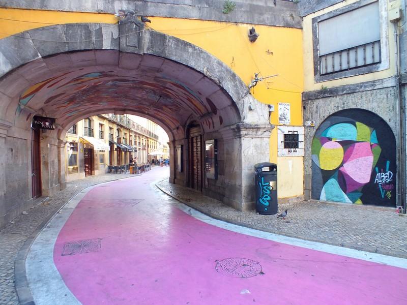 La Pink Street à Lisbonne
