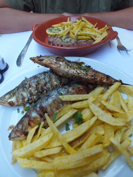 sardines grillées au Portugal