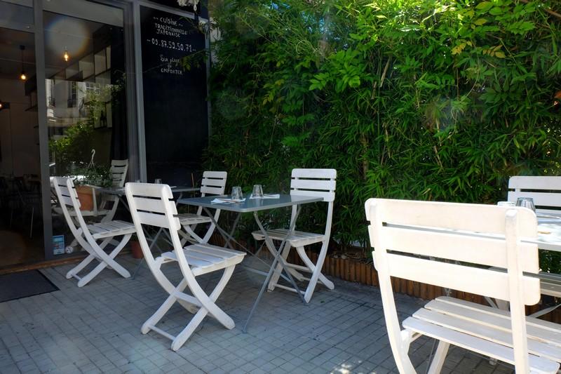 La terrasse du restaurant Akoya à Nice