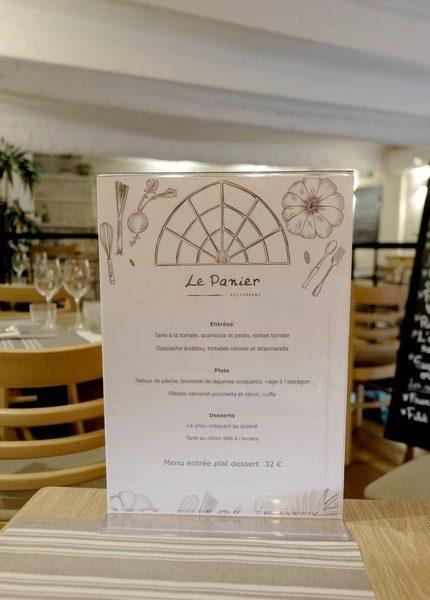 Menu du jour du restaurant Le Panier à Nice