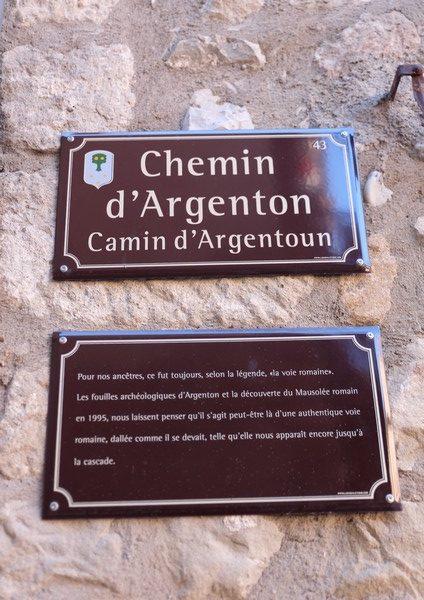 Le chemin d'Argenton à Annot
