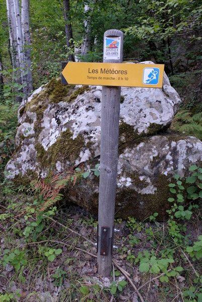 Sentier de randonnée à Annot