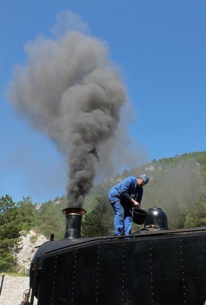 Le train à vapeur des Chemins de Fer de Provence
