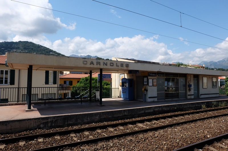 Gare de Carnolès dans les Alpes-Maritimes