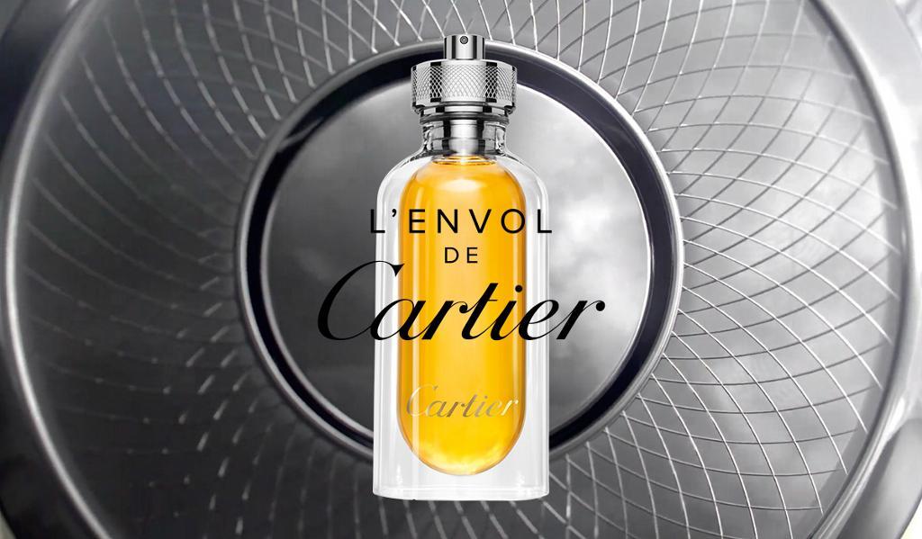 L'Envol Cartier, publicité du parfum mainstream Homme de la marque de luxe