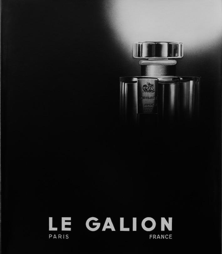 Parfumerie de niche, affiche vintage de la marque Le Galion