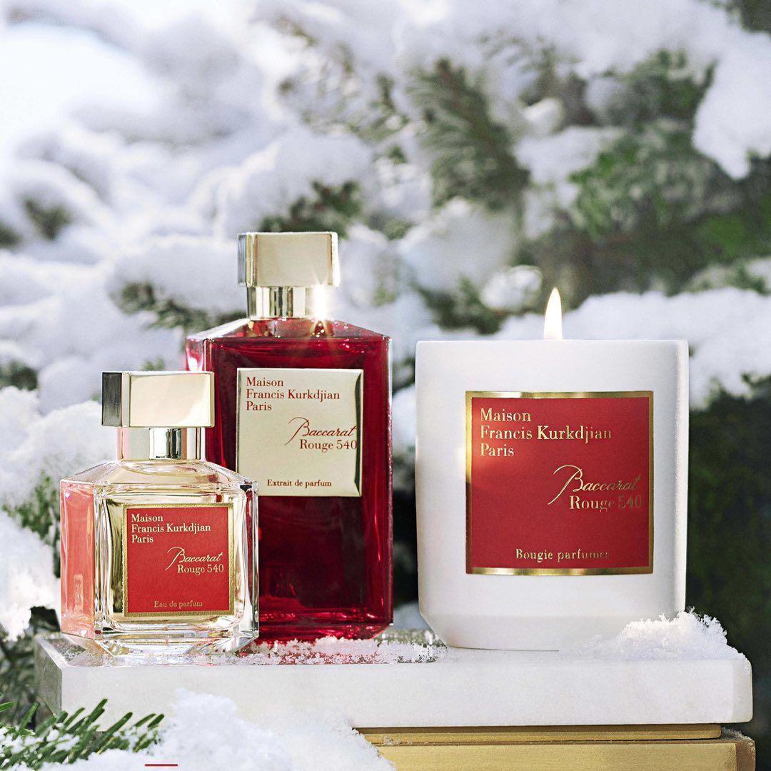 Les Bougies de parfums : La bougie Baccarat Rouge 540 de Maison Francis Kurkdjian
