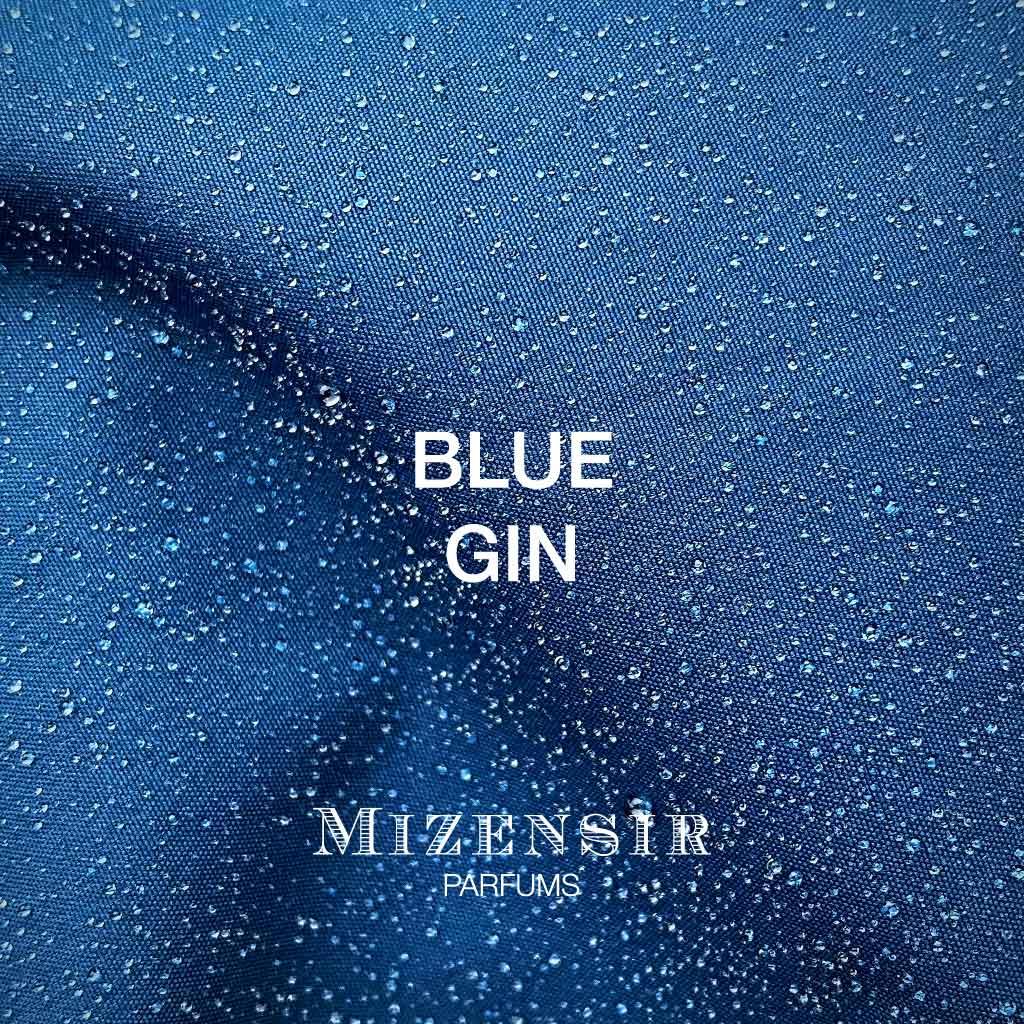 Blue Gin Mizensir, affiche pour le parfum