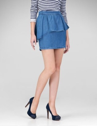 Falda denim + volante