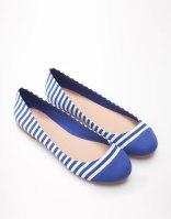Zapatos rayas azul