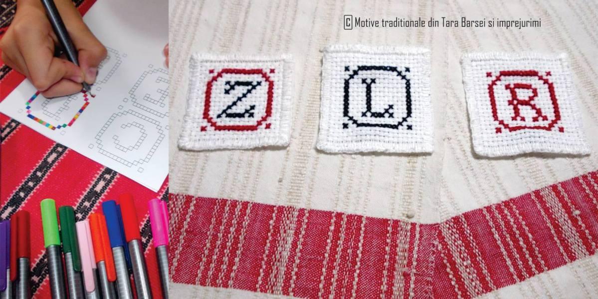 Atelier de cusut şi colorat litere, de Ziua Limbii Române