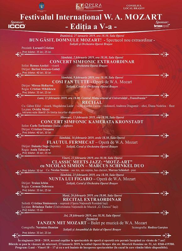 Festivalul Internațional W. A. MOZART – Ediția a V-a