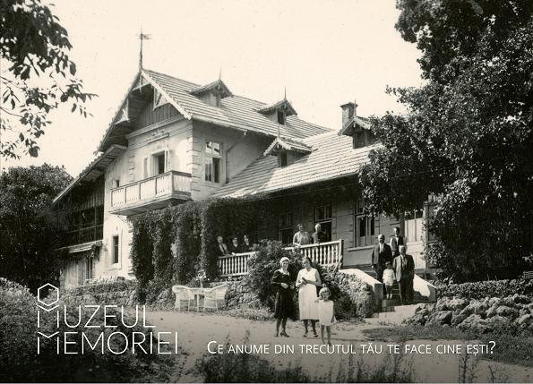 Colecția privată Călin Pop, întrunire de familie la villa Kuschmann 1927,Muzeul Memoriei