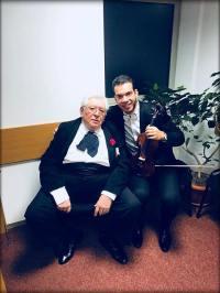 maestrul Galati si Bogdan Costache