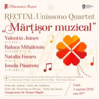 "Mărtișor muzical cu ,,Unissono Quartet"", la Filarmonica Brașov!"