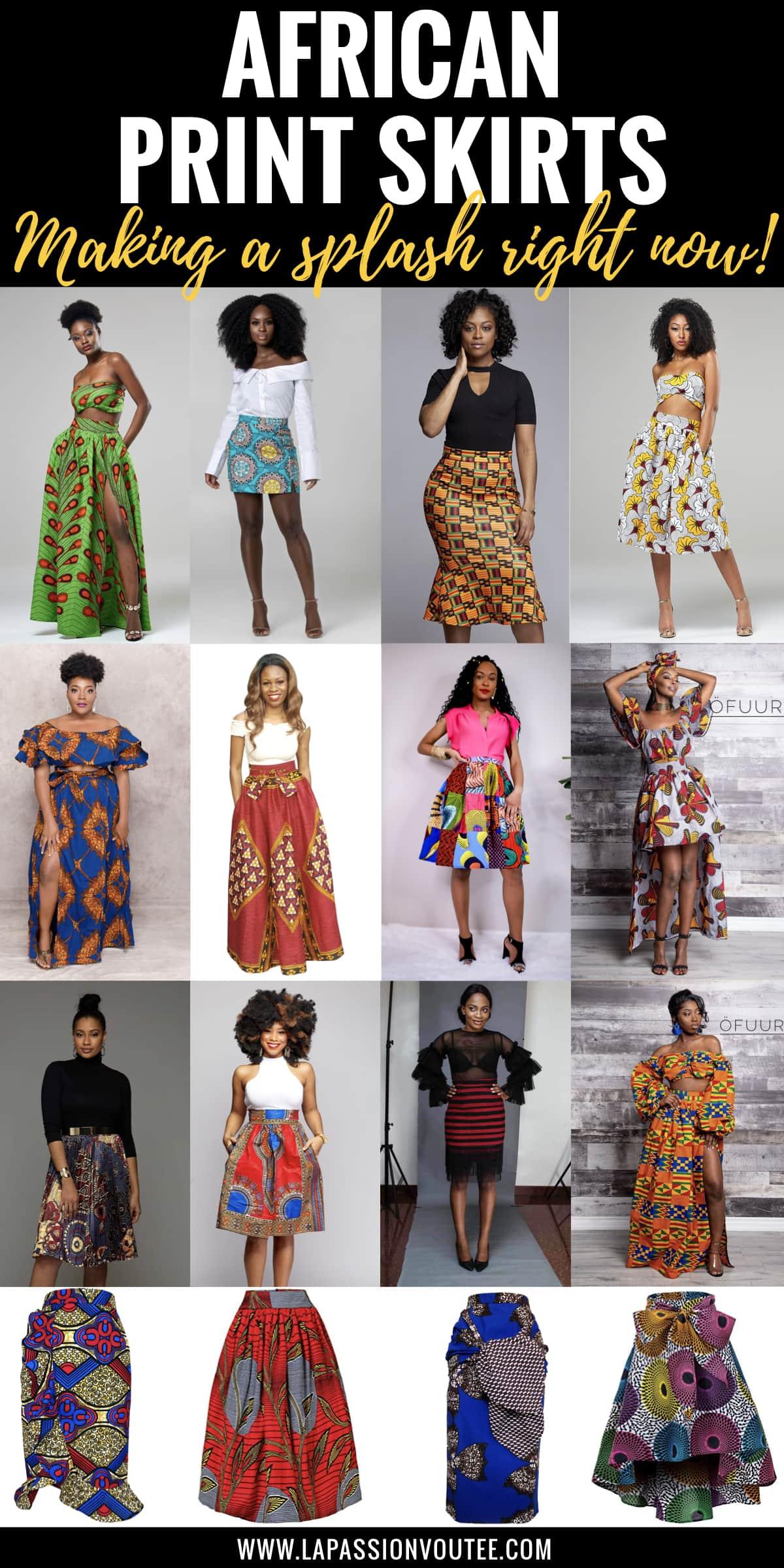 African Skirts Patterns : african, skirts, patterns, Hottest, African, Print, Skirts, Women, Where