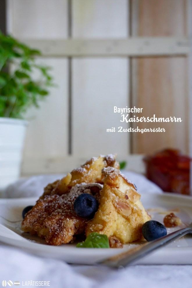 Ein Dessert, dass einfach immer gut ankommt: Bayrischer Kaiserschmarrn mit Zwetschgenröster.