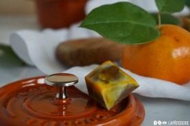 Säuerliche Mandarine und süßliche Vollmilchschokolade harmonieren perfekt miteinander.