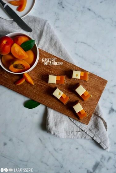 So kann ein Käsebrot auch aussehen. Mit Appenzeller und Aprikose.
