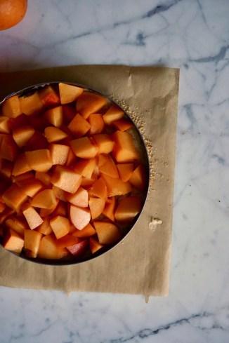 Die Aprikosen sind schon auf dem Kuchen...