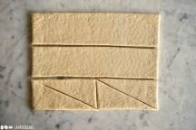 Schritt 7: Croissantteig zuschneiden