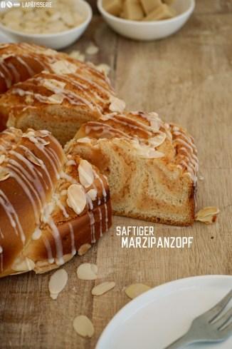 Luftig leichter Hefeteig gefüllt mit einer aromatischen Marzipanfüllung - perfekt zum Frühstück, Kaffee oder Brunch