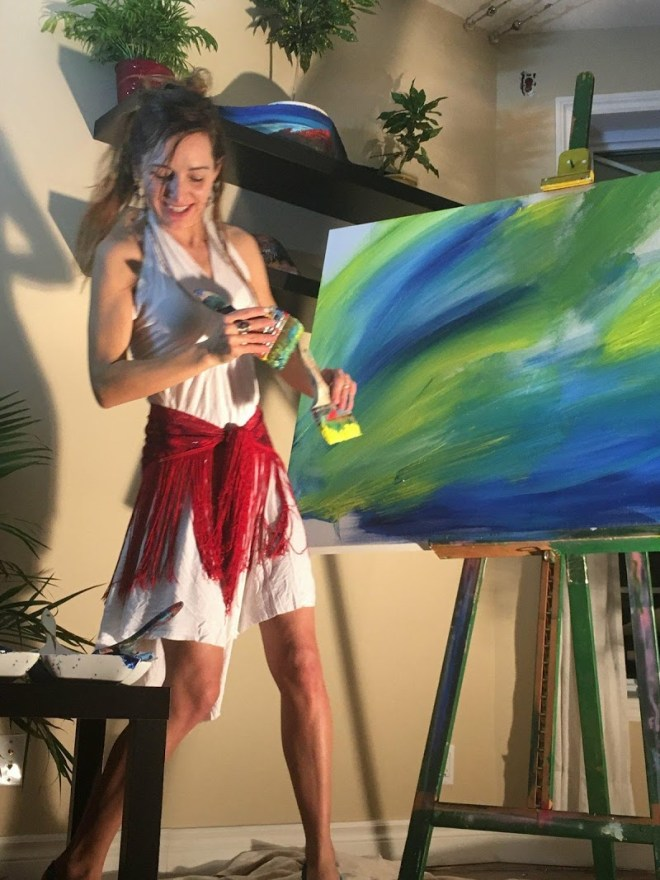 Christine C - Show de peinture musical 18 décembre 2017