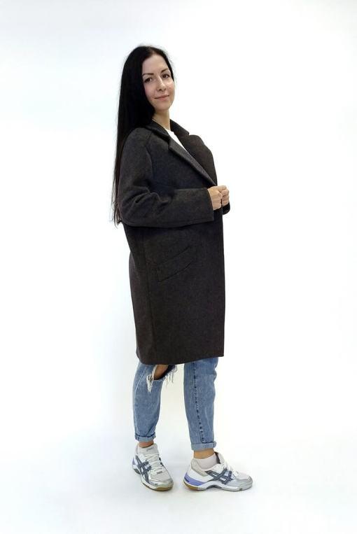 Женское шерстяное пальто Линда сбоку