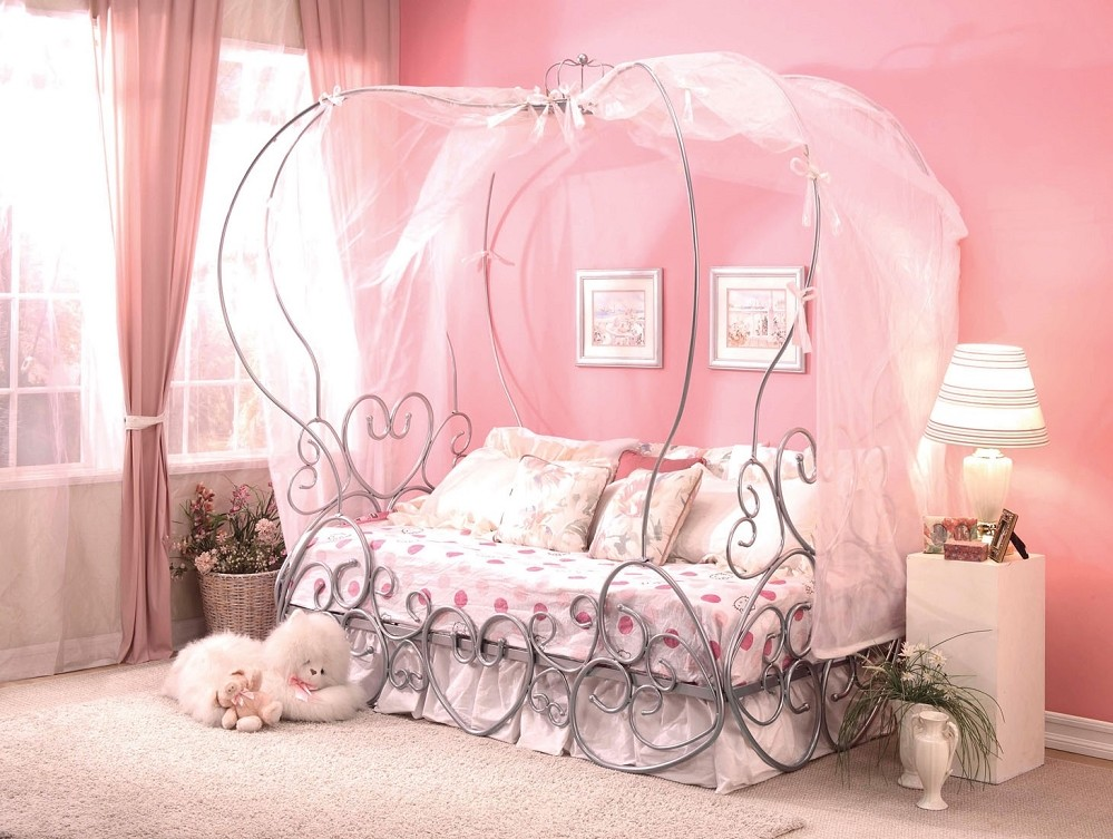 canopy bed frame girly