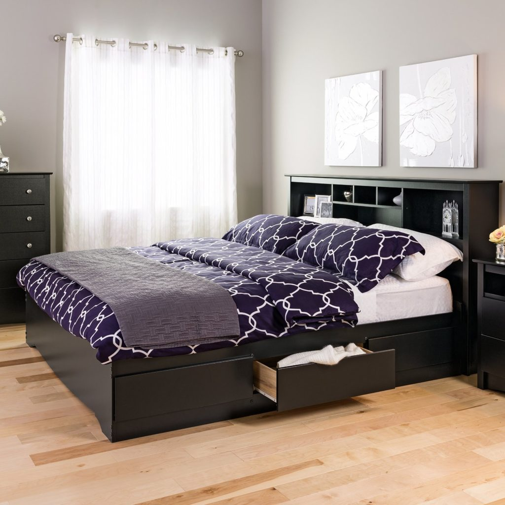 Solid Wood Platform Beds Royals Courage Bookcase