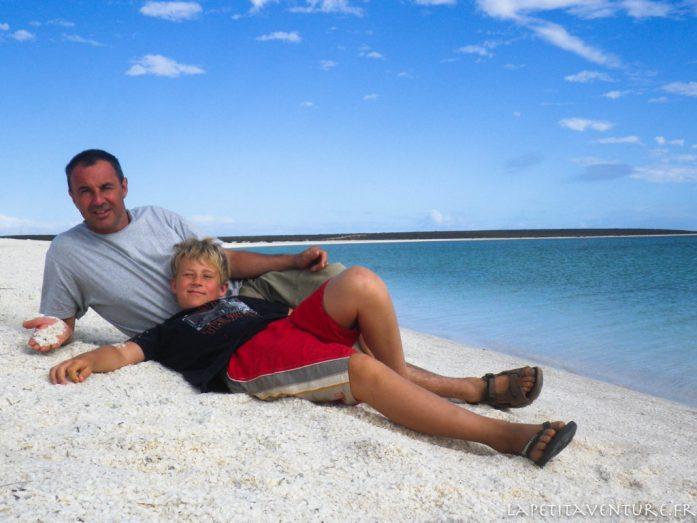 shell beach en Australie