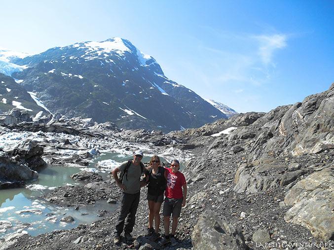 en famille au Salmon glacier