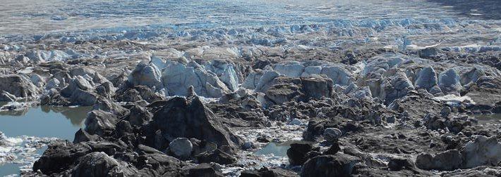 glace du glacier en Alaska