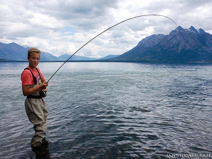 pêche à la mouche sur le lac Chilko