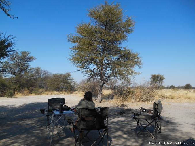 road book dans le kalahari