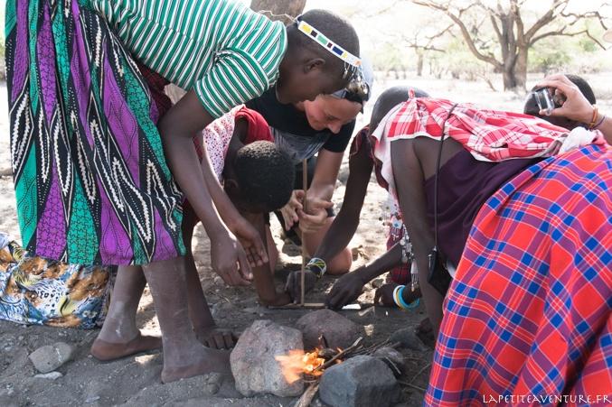 feu avec les masaïs