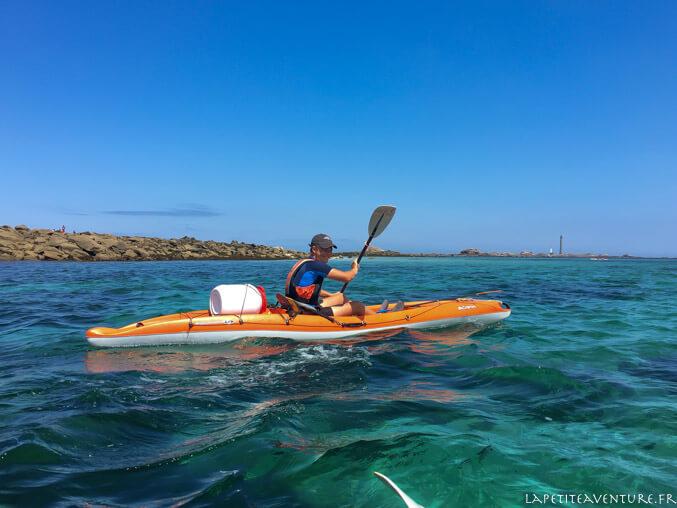 kayak dans l'Aber Wrac'h