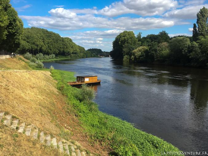 Sortie en bateau sur la Vienne
