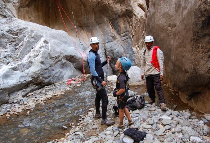 Fond du canyon de Taghia