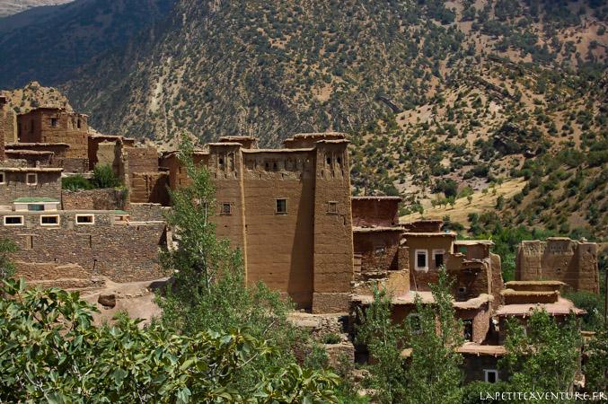 Maison en pisé au Maroc