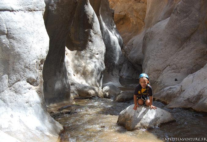 Pause dans le canyon