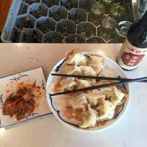 Dumplings & kimchi